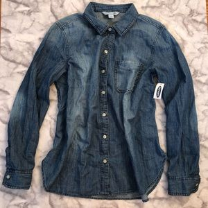 NWT Chambray Button Up